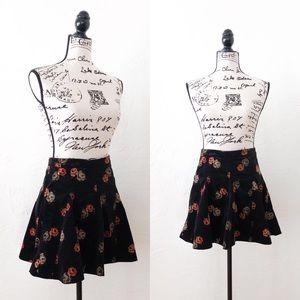 Free People Mini Floral Micro Cord Skirt // Sz 2